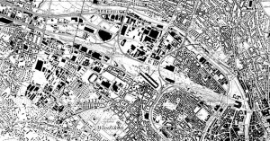 Karte der Stadt Zürich 1:25000